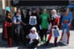 superheroes join in with free comic book day celebrations
